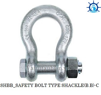 SAFETY BOLT TYPE SHACKLE-SHBB-C