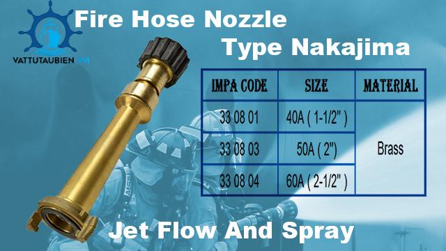 Fire hose nozzle type nakajima