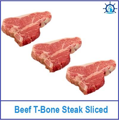 Beef T-Bone Steak Sliced