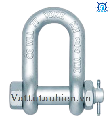 Forged Alloy Chain Shackle With Bolt Pin