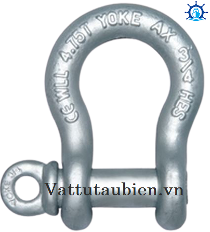 Forged Carbon Anchor Shackle With Screw Pin